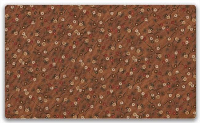Märkverk   Tyger - Brun botten beige och röda blommor 573e2fd01c789