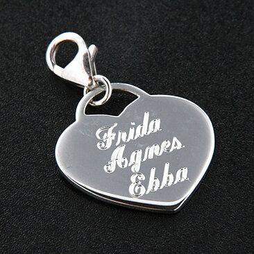 Namnhalsband silver hjärta-graverbart - GULDKORNET 56da9b0c8a26f