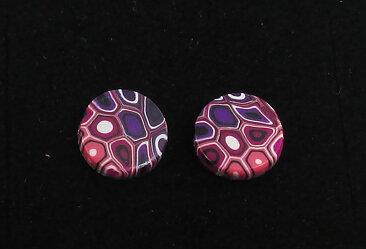 Handgjorda örhängen Hedda multifärgad rosa - GULDKORNET 1ec99537f396b