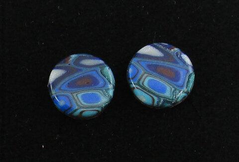 Handgjorda örhängen Hedda multifärgad turkos blå 1dc5a198dab79