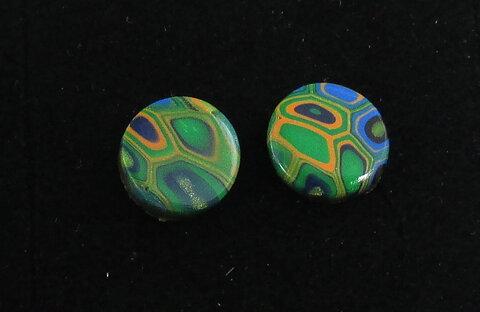 Handgjorda örhängen Hedda multifärgad grön 9982e44c48399