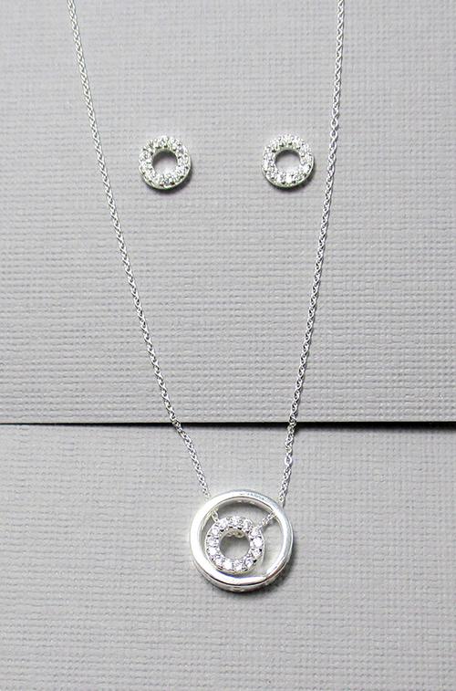 Silver set halsband och örhängen - GULDKORNET 448422ace89cd