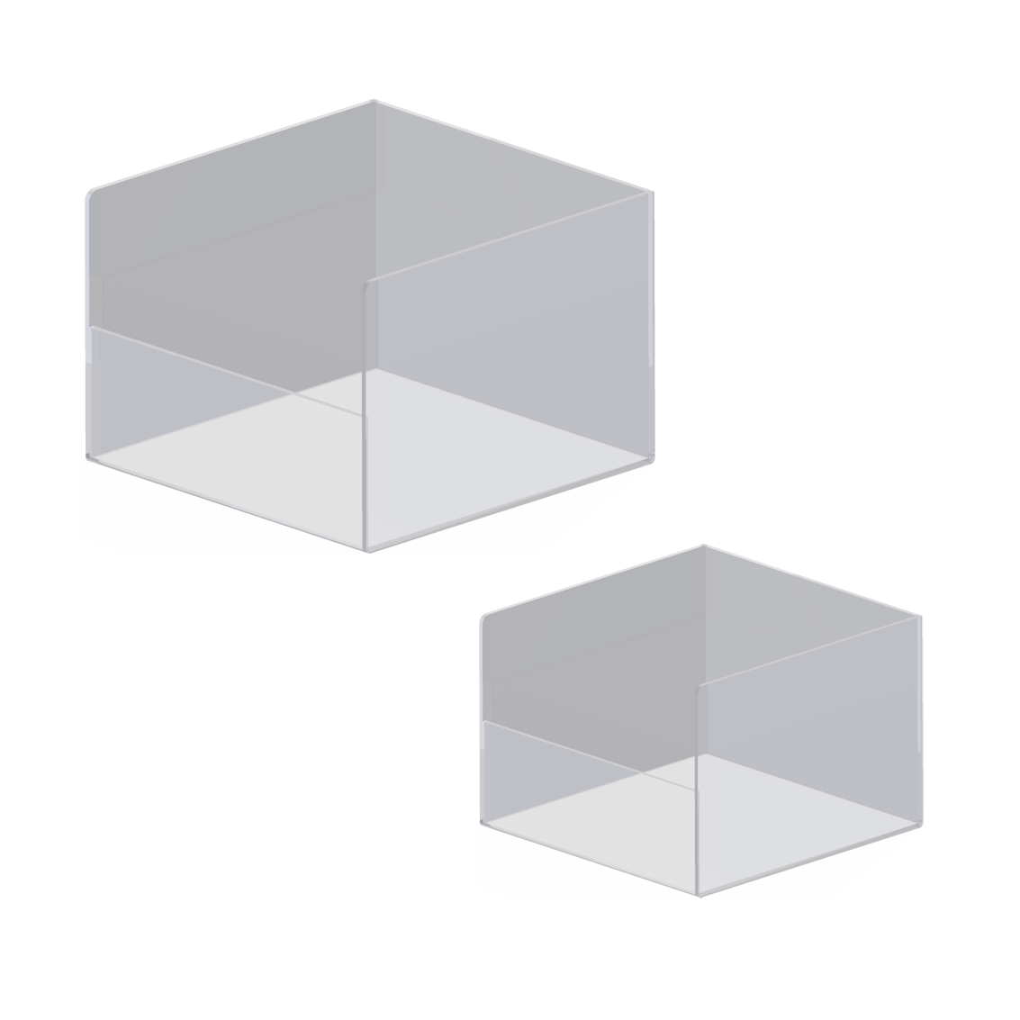 Akryl Box 3e design ab - akryl box med låg framtkant
