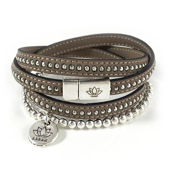 halsbandet - Läderarmband Camel 3 varv - set bdbf45a71aec1