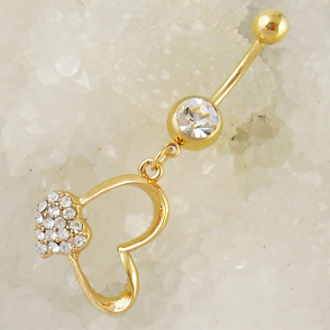 Gold Plated Navel Belly Button Ring Body Piercing Jewelry