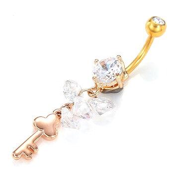 Guldpläterade Navelpiercing Piercing smycken - Angelodemon.se 0b15926cdbde3