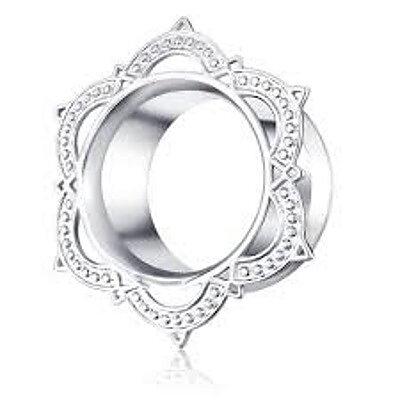 Blanda (6-16mm) piercing rostfritt stål örat tunnel a630ee9c34667