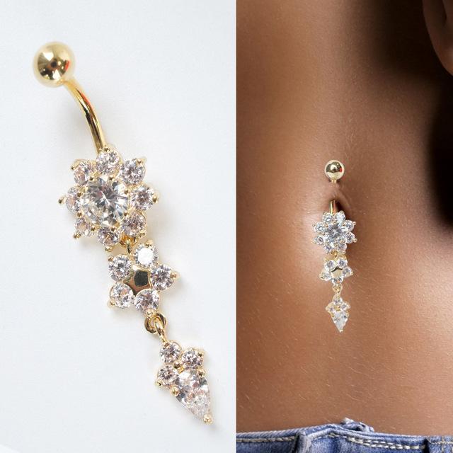 Guldpläterade Navelpiercing Piercing smycken BLOMMA - 7. Next. Previous d26d703a7246f