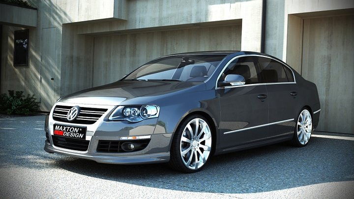 front bumper spoiler vw passat b6 r line look. Black Bedroom Furniture Sets. Home Design Ideas