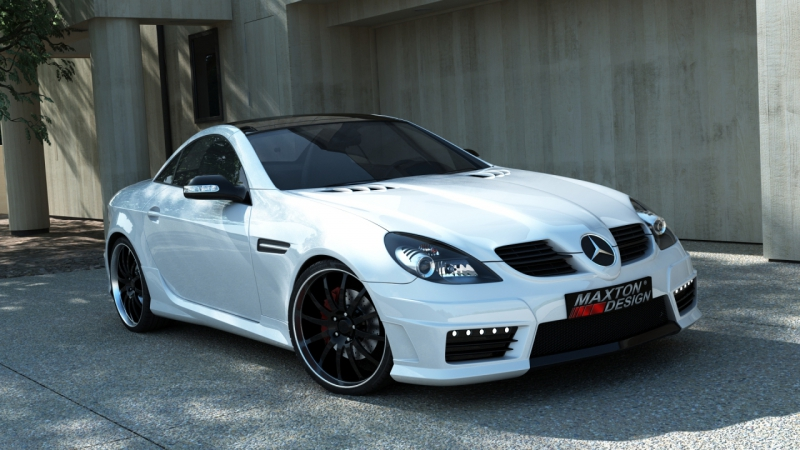side skirts mercedes slk r171 slk r172 amg look abs plastic. Black Bedroom Furniture Sets. Home Design Ideas