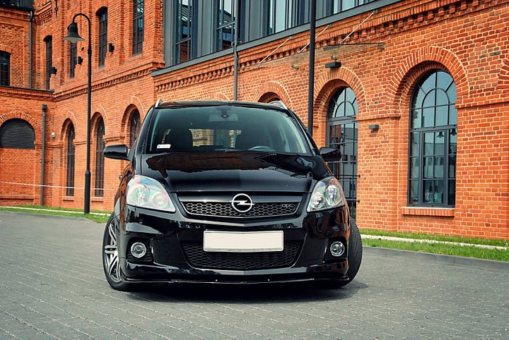 front splitter opel zafira b opc vxr bluepower. Black Bedroom Furniture Sets. Home Design Ideas