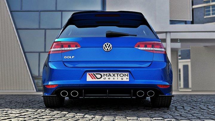 vw golf 7 r hatchback rear diffuser rear side splitters
