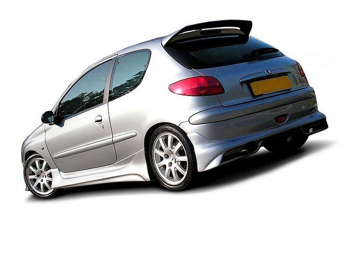 rear bumper extension peugeot 206 hatchback gti s16. Black Bedroom Furniture Sets. Home Design Ideas
