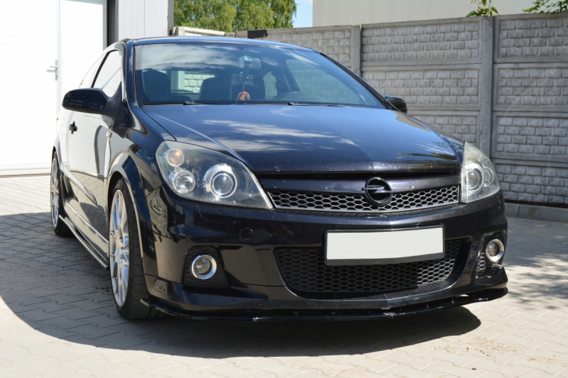 front splitter opel astra h for opc vxr. Black Bedroom Furniture Sets. Home Design Ideas