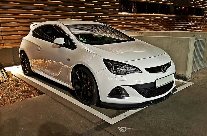 front splitter opel astra j opc vxr v 1. Black Bedroom Furniture Sets. Home Design Ideas