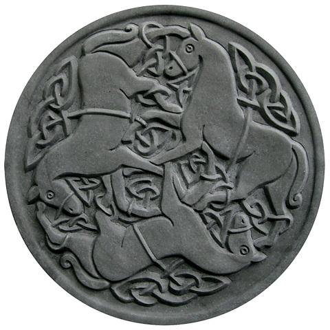 Trampsten,gångplatta Celtic Hästar