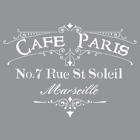 Schablon Café Paris