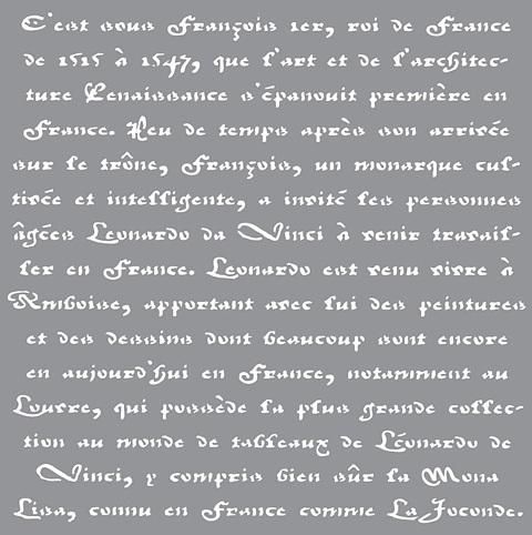Schablon Old French script