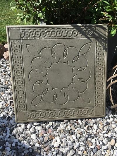 betong i trädgården