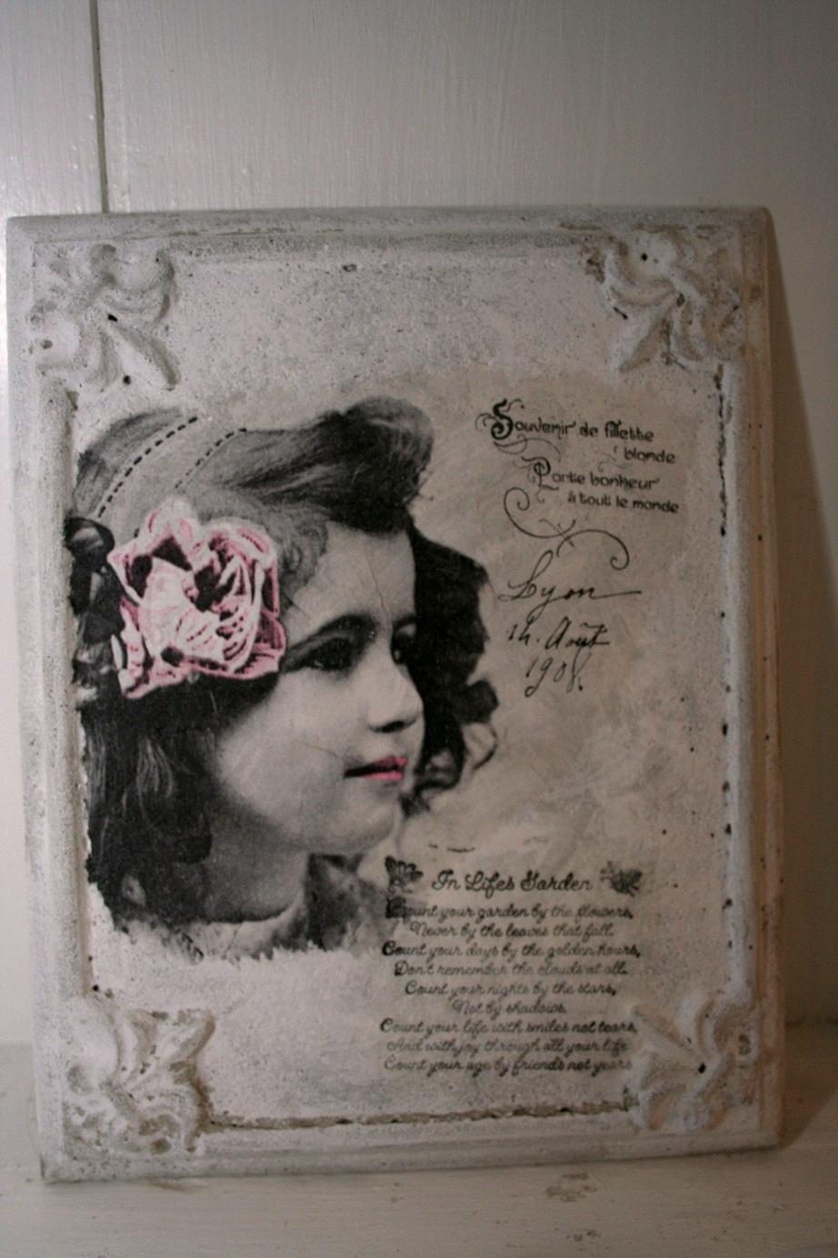 Betongform tavla,dekor,franska liljan nr.2   tant gräddelin