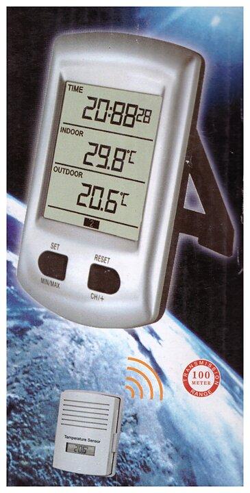 Trådlös termometer med klocka - Sneckenströms Ekohandel