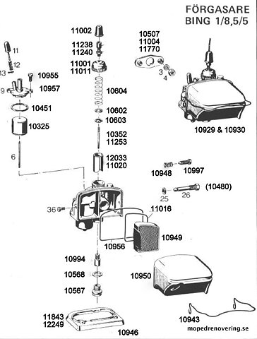 Exploded View Sachs Carburettor Bing Quot Common
