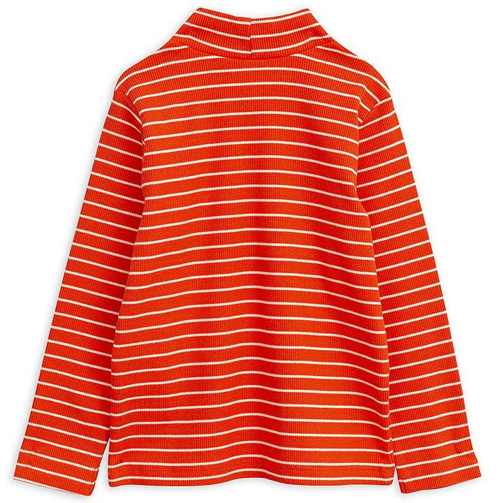 2e54fca3d34 Mini Rodini T-shirt Turtleneck Långärmad Stripe Rib Röd - FreshMilk ...