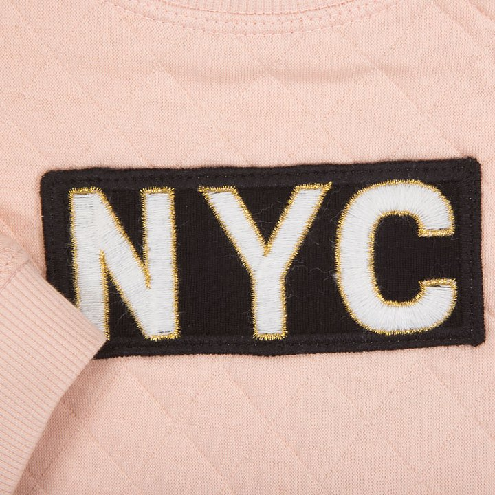 6537df4e3a5 Petit by Sofie Schnoor Sweatshirt Quilted NYC Pink - FreshMilk ...