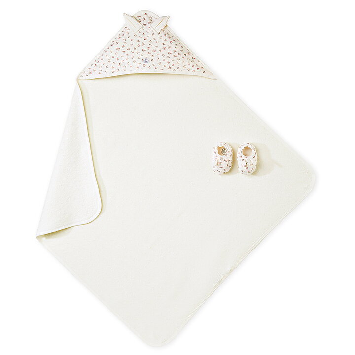 0e700550643 Petit Bateau Bath Set Towel Footies Flowers Light Pink - FreshMilk ...