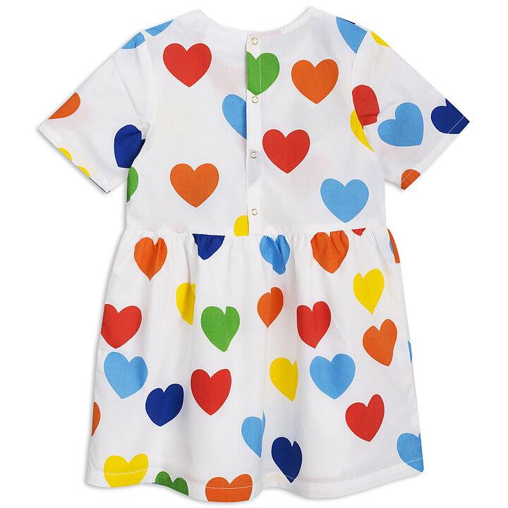 Mini Rodini Klänning Woven Rainbow Love Vit ba33bca39925b