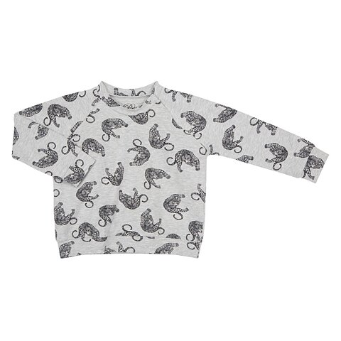 819f82653b7 Petit by Sofie Schnoor T-Shirt Long Sleeve Tiger Grey Melange