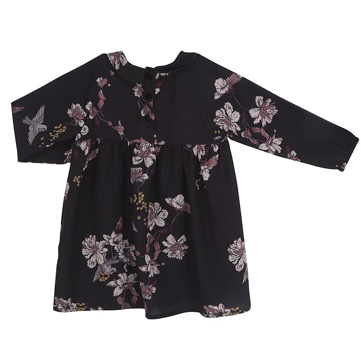 0329df04f07 Petit by Sofie Schnoor Dress Long Sleeve Flowers Black - FreshMilk ...