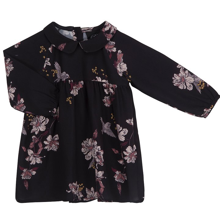 562394ded8d Petit by Sofie Schnoor Dress Long Sleeve Flowers Black - FreshMilk  Children's Clothing
