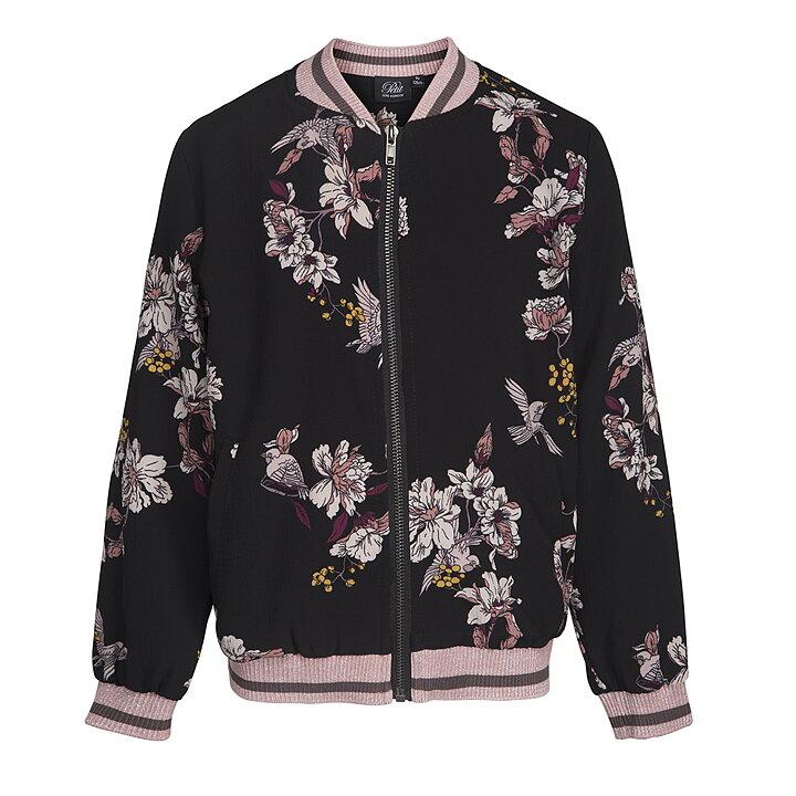 ffe28f7d866e Petit by Sofie Schnoor Jacket Flowers Black - FreshMilk Children s ...