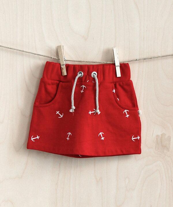 5ddd6359c54 Emma och Malena Skirt Barko Red / Navy - FreshMilk Children's Clothing