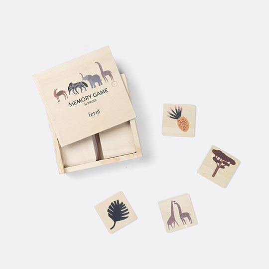 fcc96f58b0e Ferm Living Memory Game Safari - FreshMilk Children's Clothing