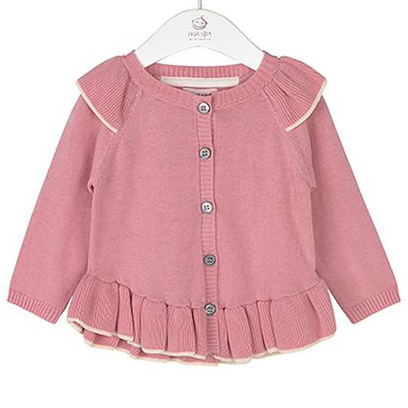 2f0f55e7e9e Noa Noa Cardigan Long Sleeve Blush - FreshMilk Children's Clothing