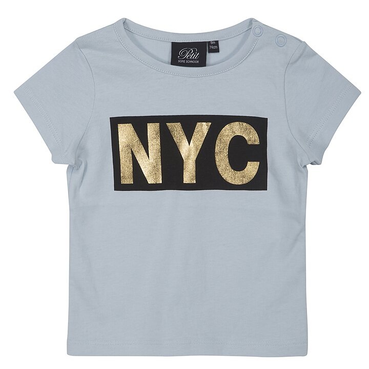 0d2f194cd07 Petit by Sofie Schnoor T-Shirt Kortärmad NYC Blå - FreshMilk ...