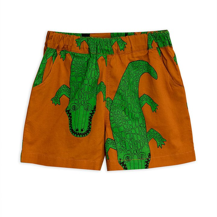 Mini Rodini Shorts Vävd Crocco Brun - FreshMilk Barnkläder  9660febf3b6ad