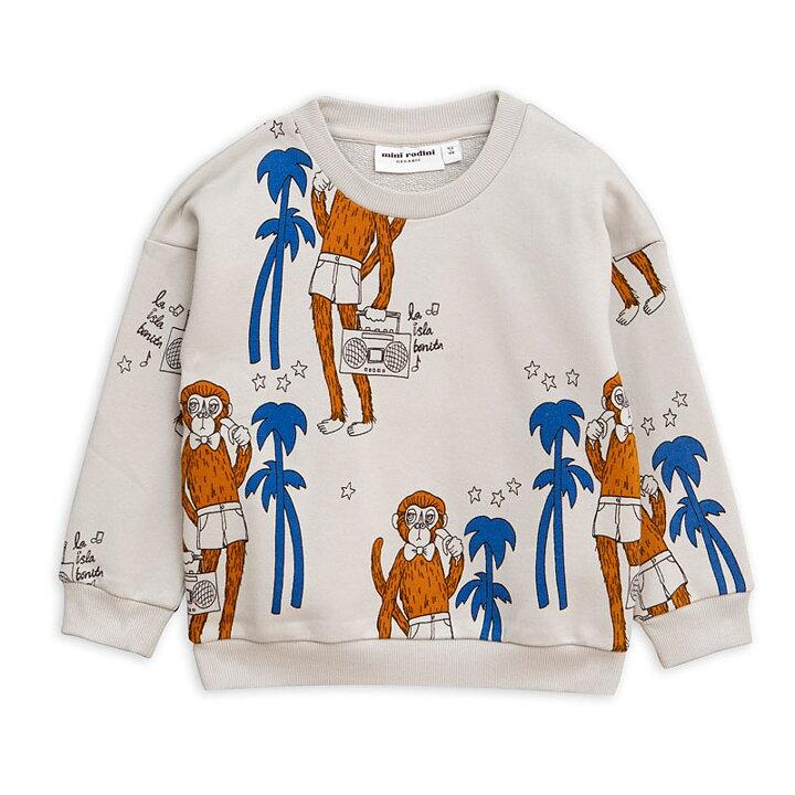 Mini Rodini Tröja AOP Cool Monkey Grå - FreshMilk Barnkläder  45a5396e8cc86