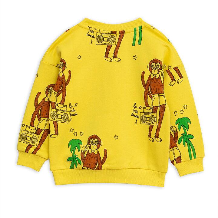 Mini Rodini Tröja AOP Cool Monkey Gul - FreshMilk Barnkläder  ec16f11215ea6