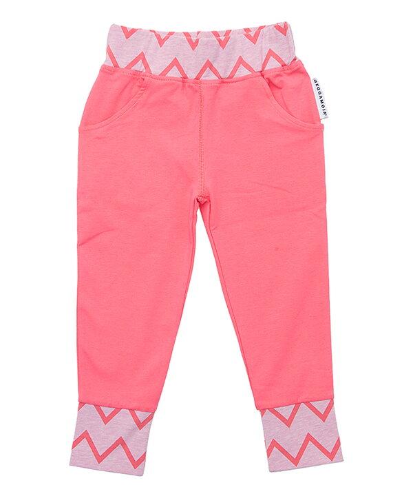 Geggamoja Pants Zick Zack Pink Melange   Cerise - FreshMilk ... 77398cee0cd4b