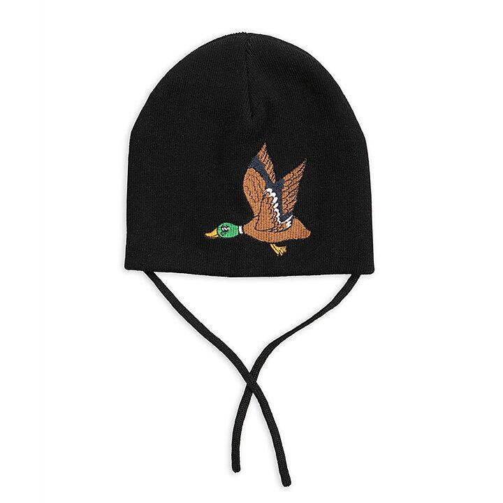 da35df681a6 Mini Rodini Hat Patch Duck Black - FreshMilk Children s Clothing