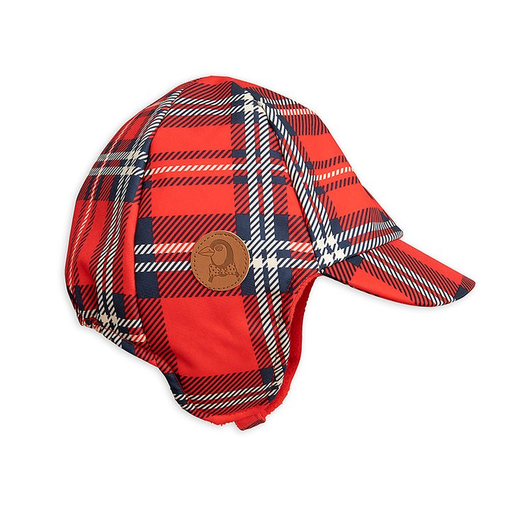 97a752eef6a8 Mini Rodini Cap Alaska Check Red - FreshMilk Children s Clothing