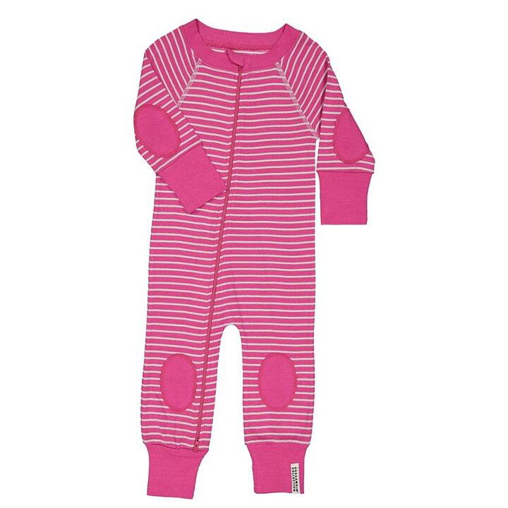 Geggamoja Pyjama Zip Bamboo Cerise   Mint - FreshMilk Children s ... ec80691a139f0