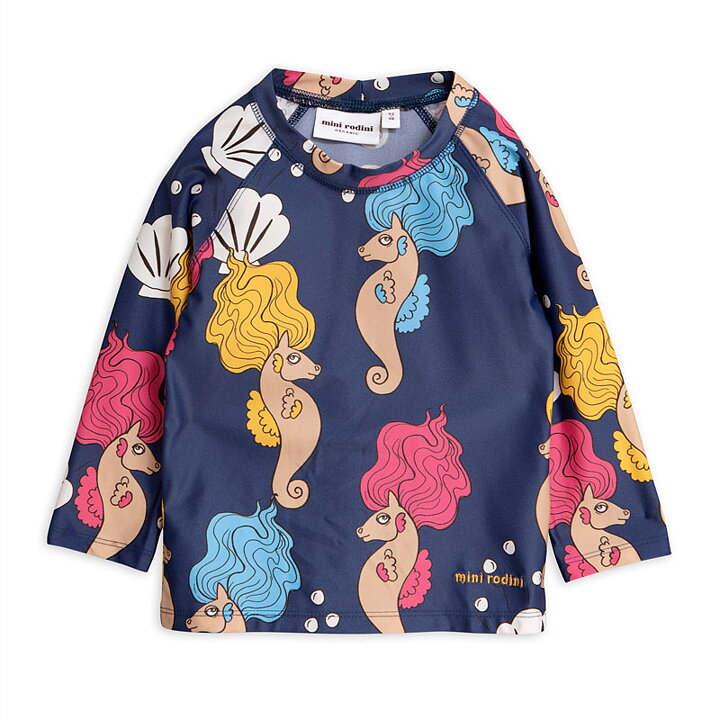 2c2c976e97 Mini Rodini UV-top Seahorse Navy - FreshMilk Children's Clothing
