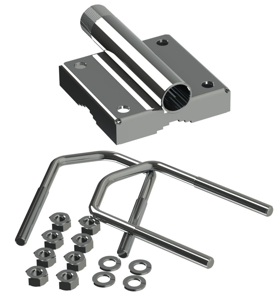 """Stainless Steel Mast/Rail Mounting Bracket 1""""-14NF For"""