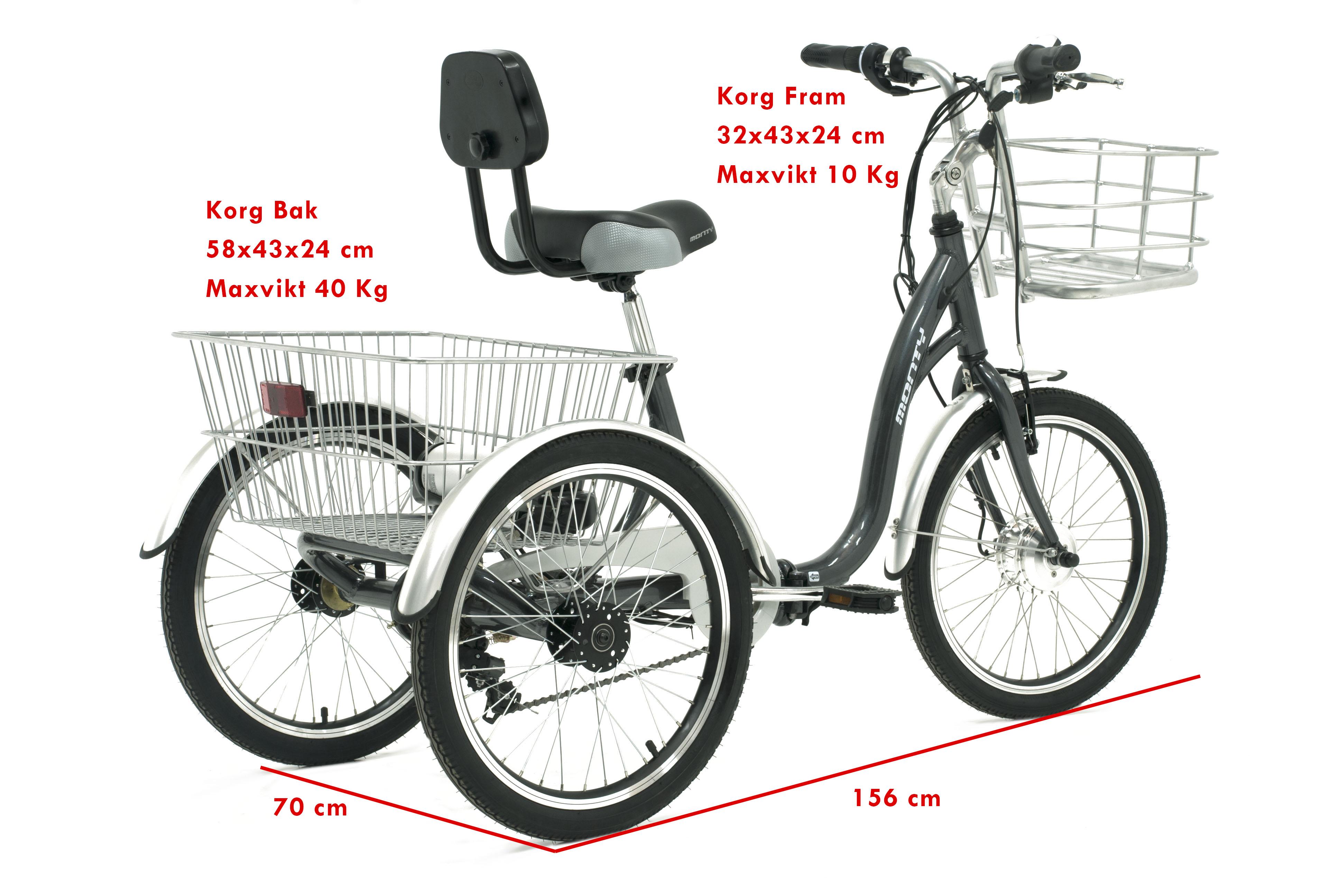 trehjulig cykel för vuxna