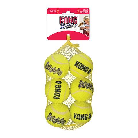 Kong Squeaker tennisboll 6 cm - 6-pack 40d6553e18473