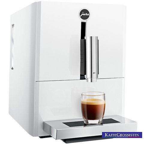 jura a1 piano white en helautomatisk kaffemaskin. Black Bedroom Furniture Sets. Home Design Ideas